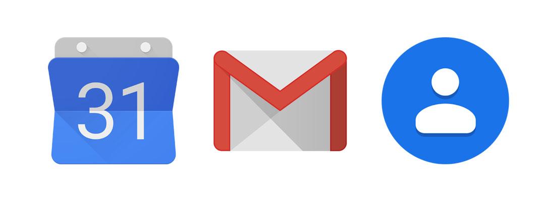 Google Mail – Contact – Agenda – Hangout